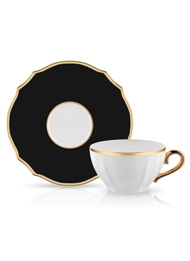 Koleksiyon Poem Çay Fincan Seti 6'lı Siyah Renkli